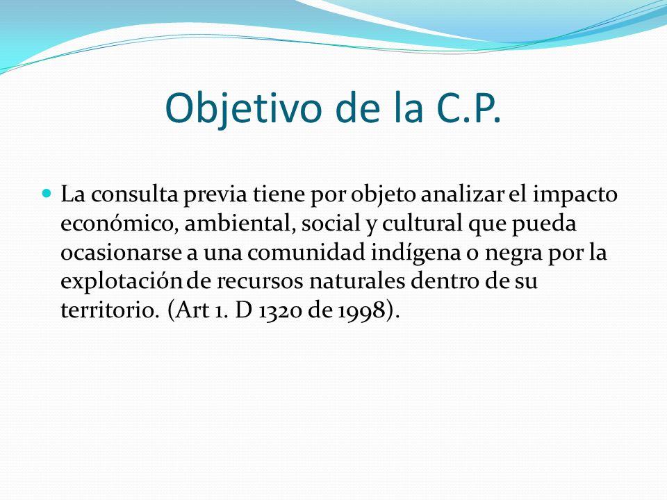 Objetivo de la C.P.