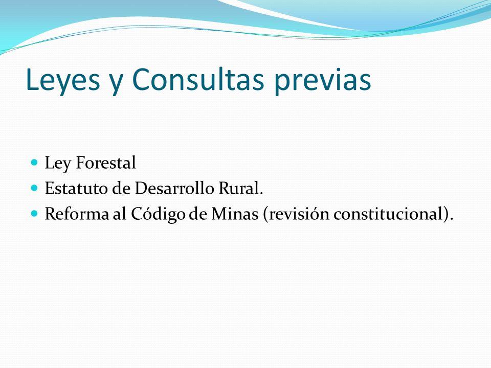 Leyes y Consultas previas
