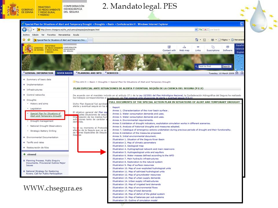2. Mandato legal. PES WWW.chsegura.es