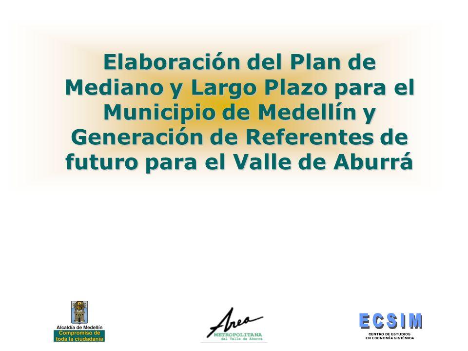 Elaboración del Plan de Mediano y Largo Plazo para el Municipio de Medellín y Generación de Referentes de futuro para el Valle de Aburrá
