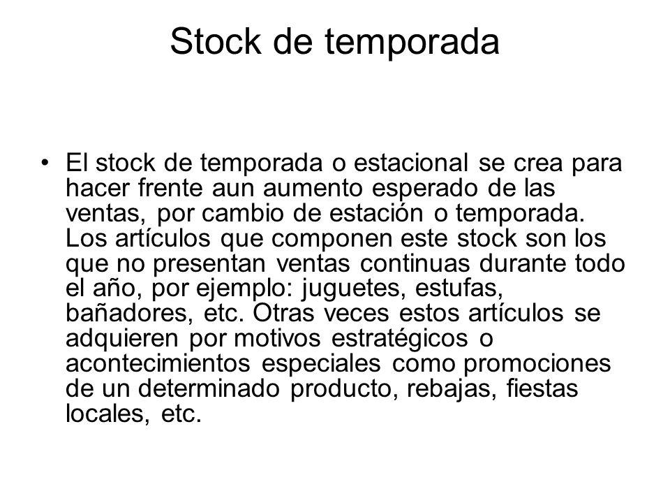 Stock de temporada