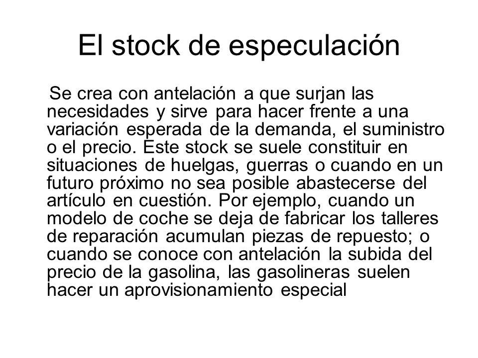 El stock de especulación