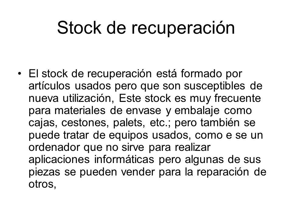 Stock de recuperación