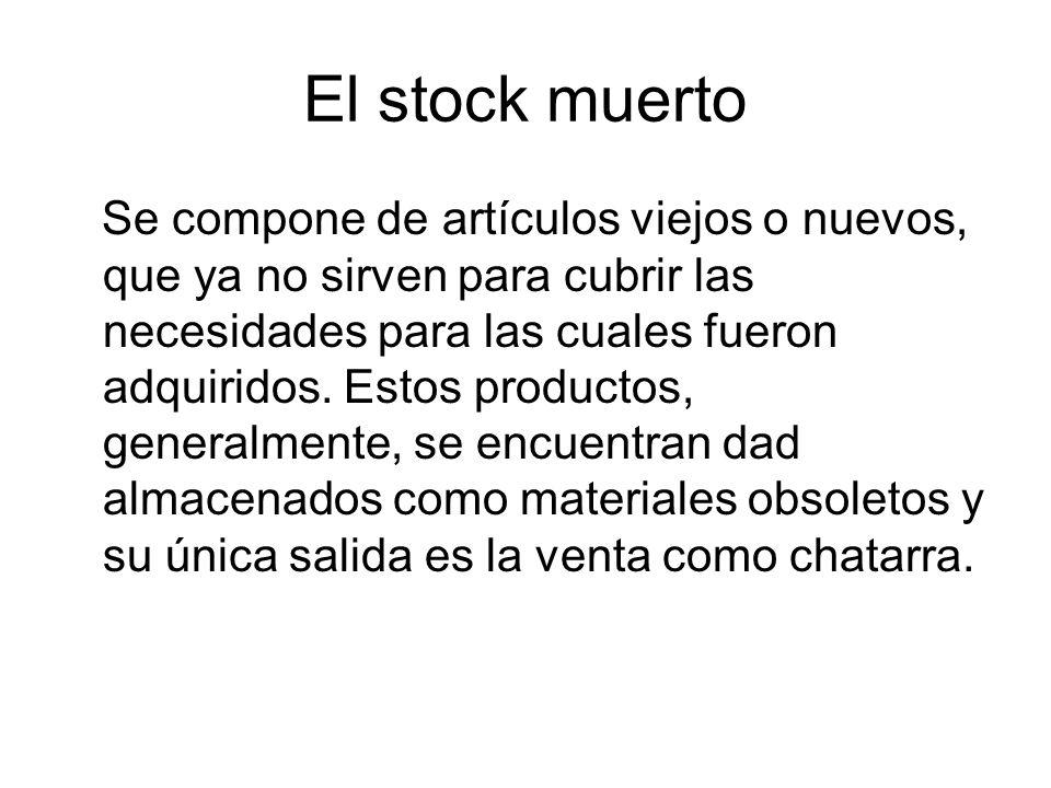 El stock muerto