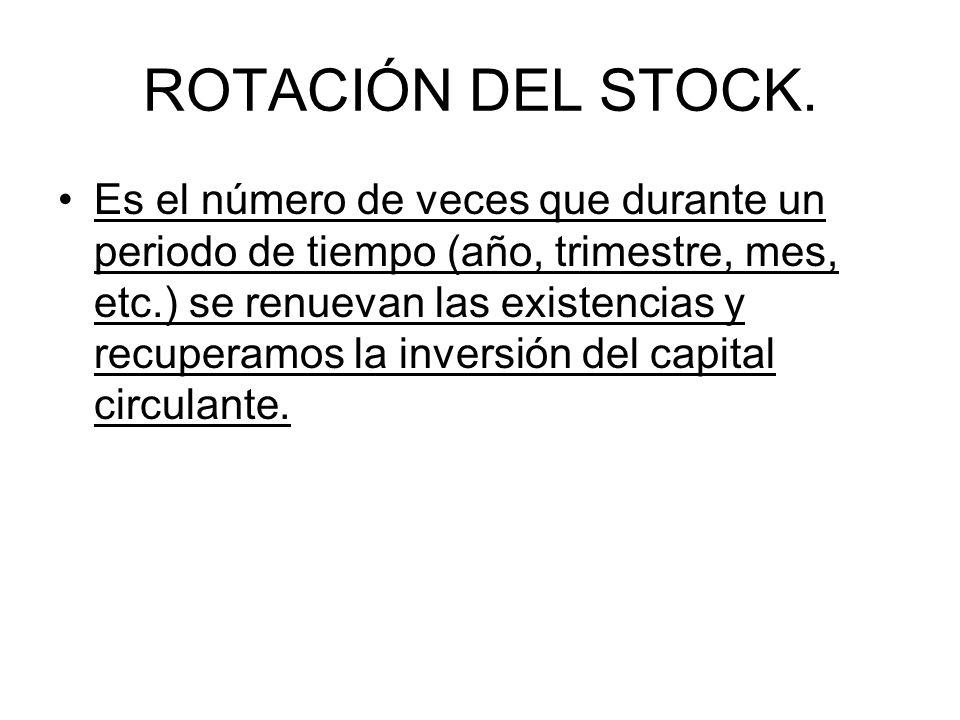 ROTACIÓN DEL STOCK.