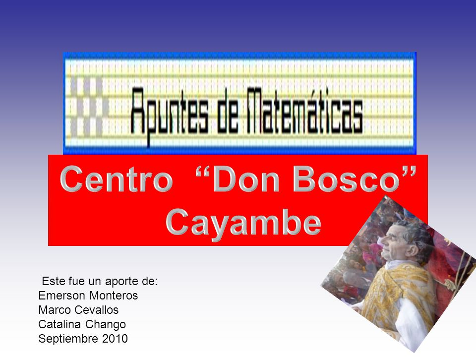 Centro Don Bosco Cayambe