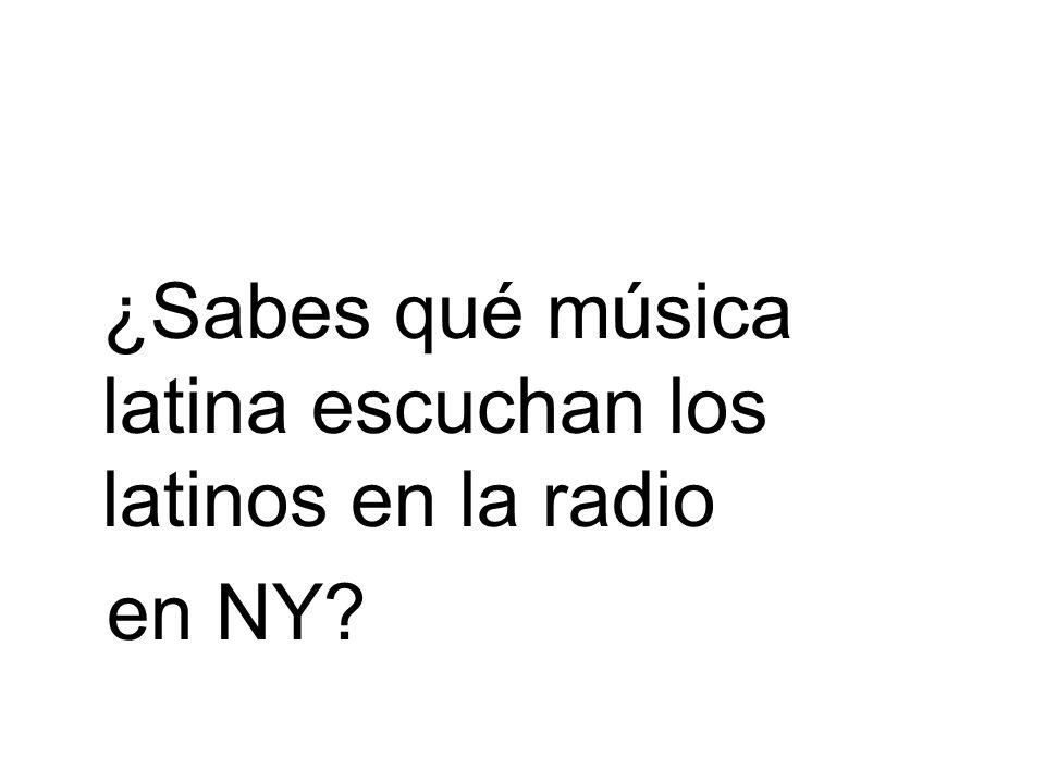 ¿Sabes qué música latina escuchan los latinos en la radio