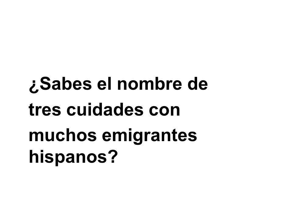 muchos emigrantes hispanos