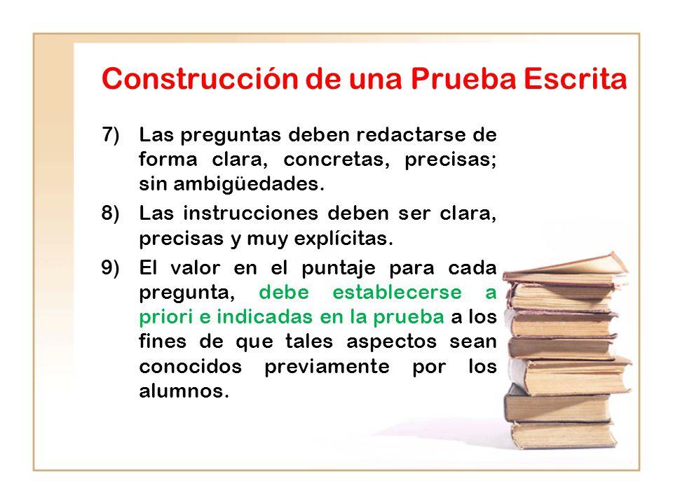 Construcción de una Prueba Escrita