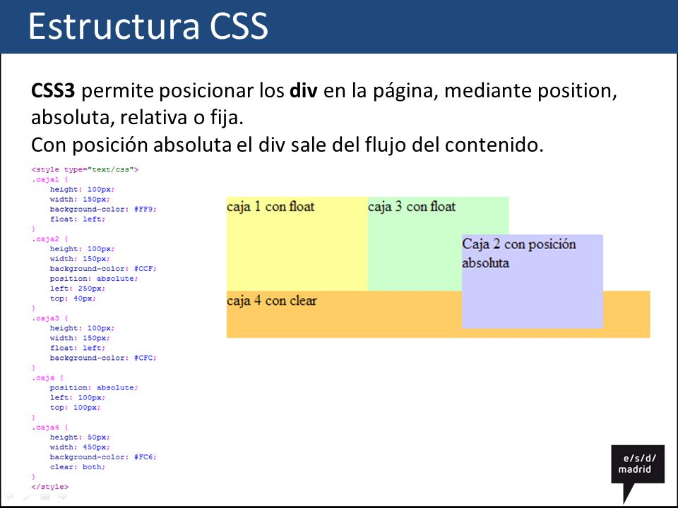 Css estructura ppt descargar for Html div position