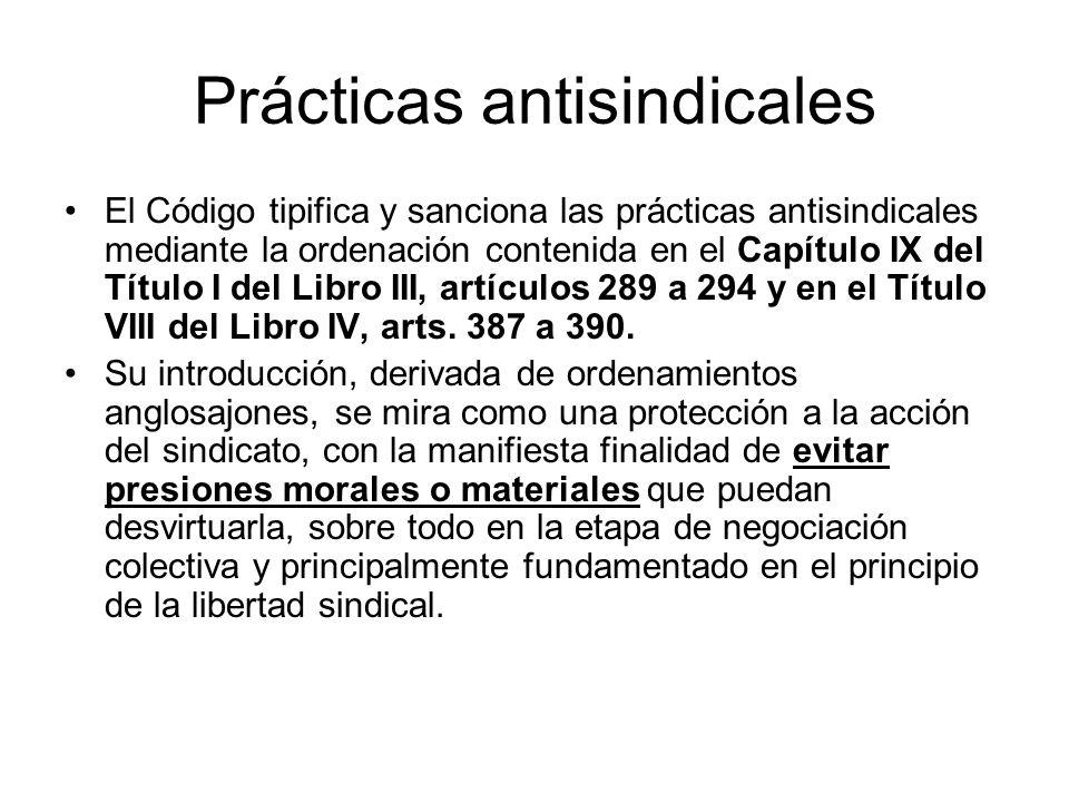 Prácticas antisindicales