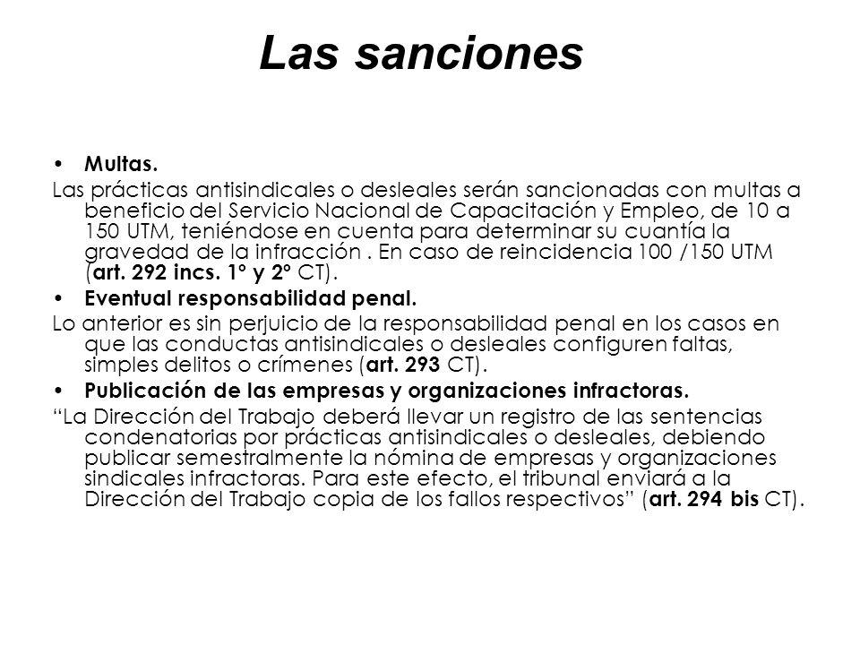 Las sanciones Multas.