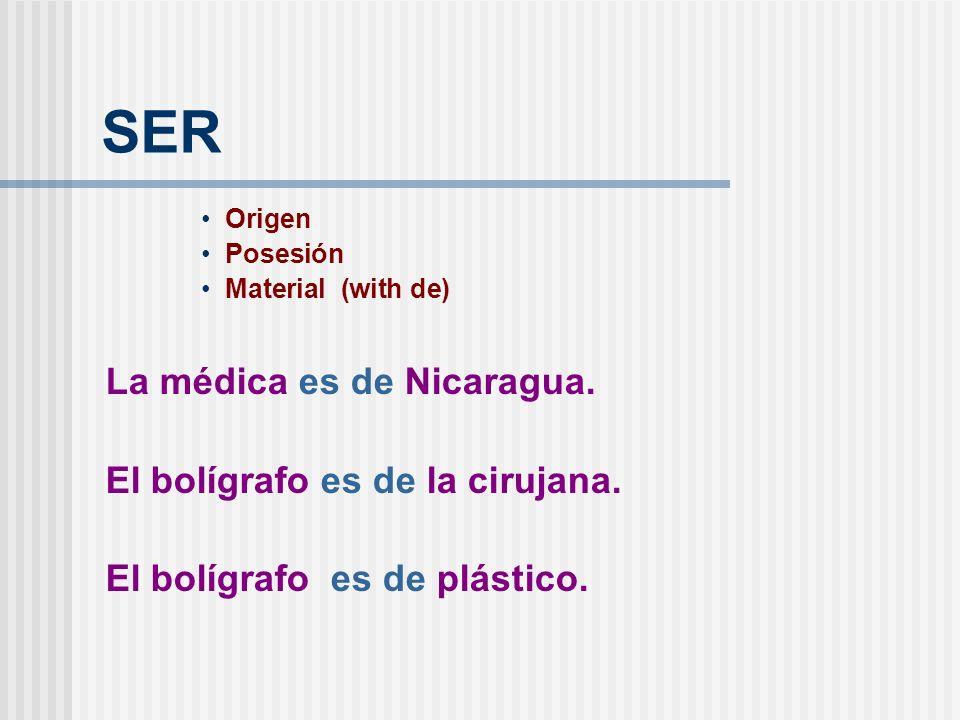 SER La médica es de Nicaragua. El bolígrafo es de la cirujana.