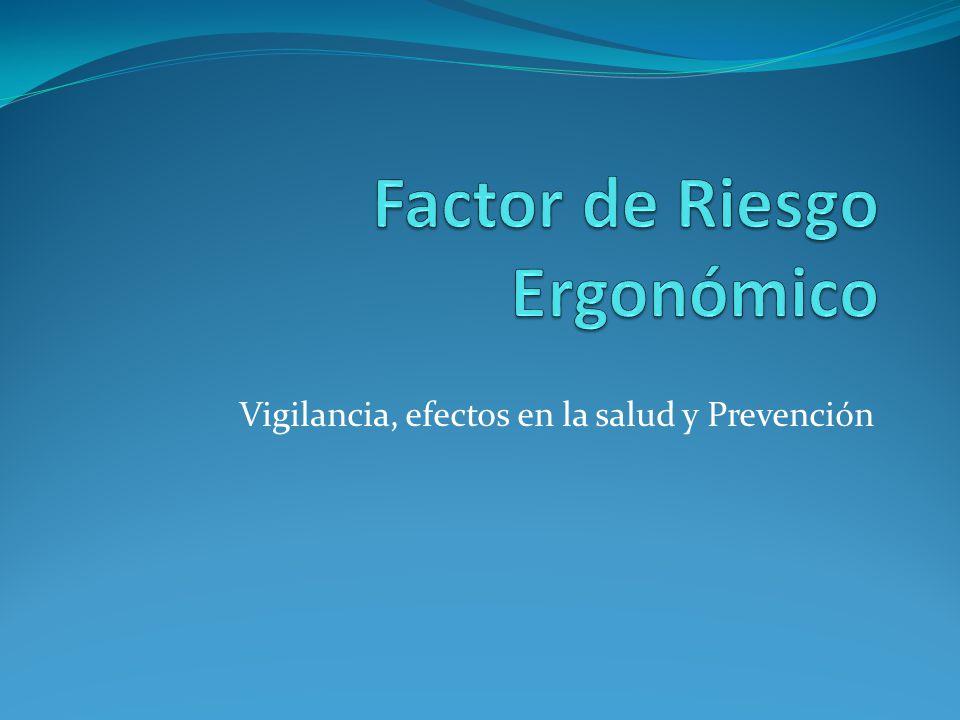Factor de Riesgo Ergonómico