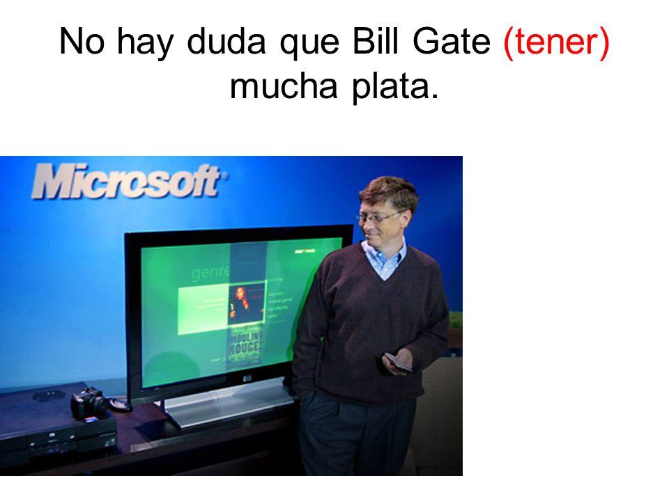 No hay duda que Bill Gate (tener) mucha plata.