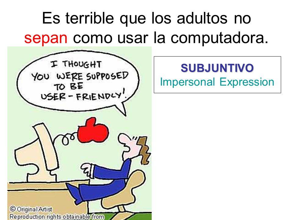 Es terrible que los adultos no sepan como usar la computadora.