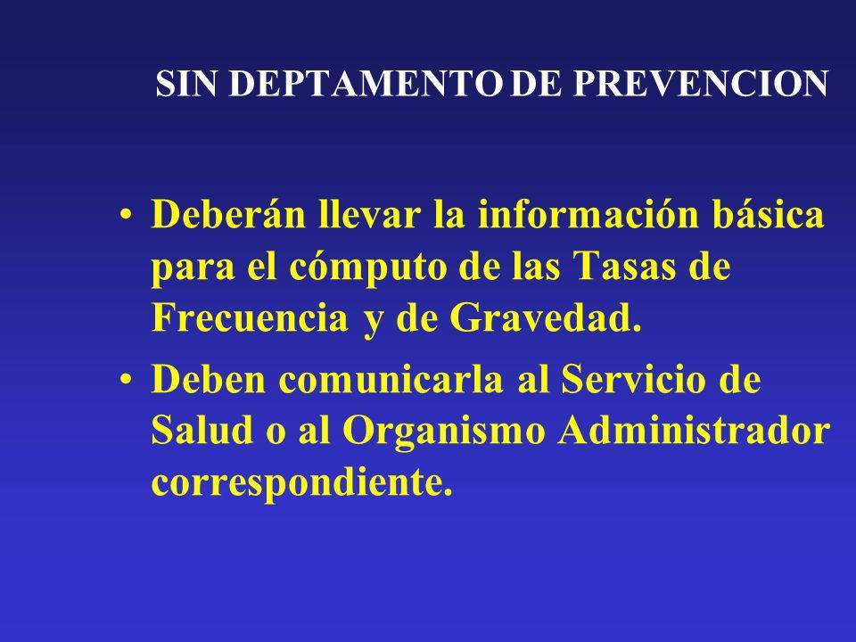 SIN DEPTAMENTO DE PREVENCION