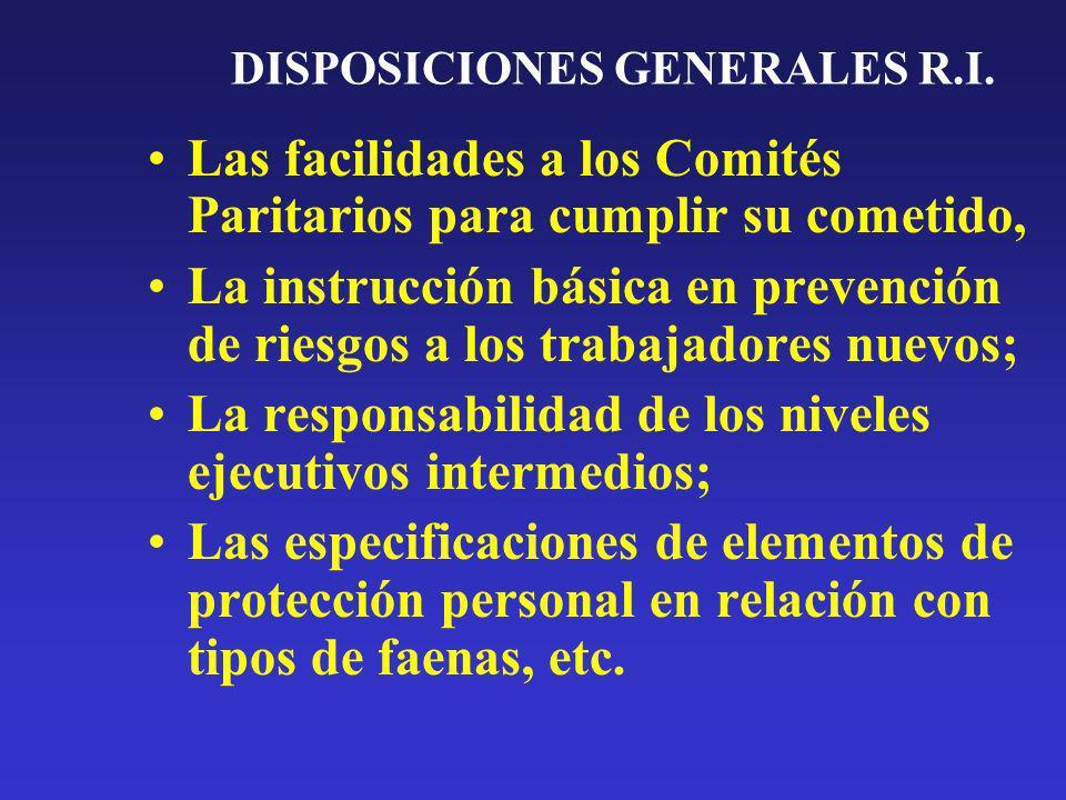 DISPOSICIONES GENERALES R.I.