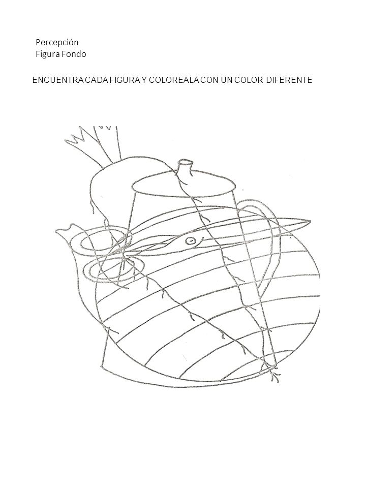 ENCUENTRA CADA FIGURA Y COLOREALA CON UN COLOR DIFERENTE