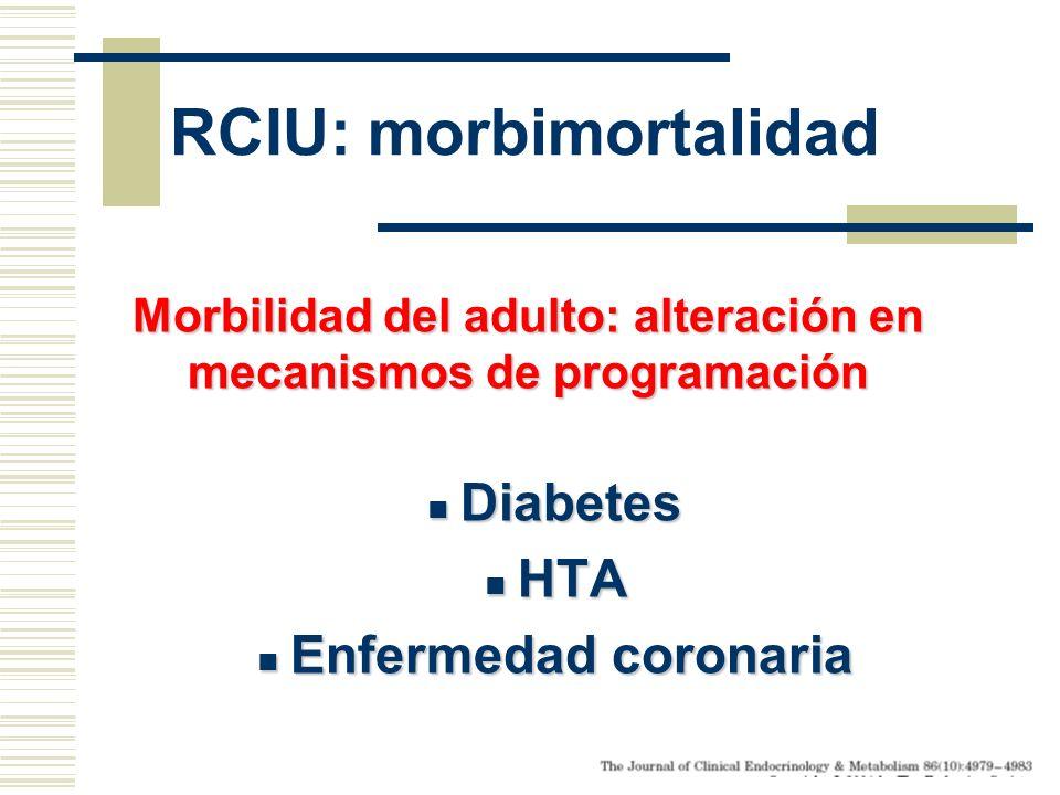 RCIU: morbimortalidad