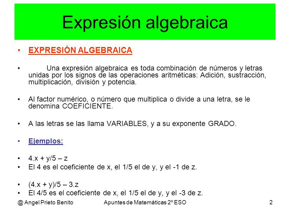 Apuntes de Matemáticas 2º ESO
