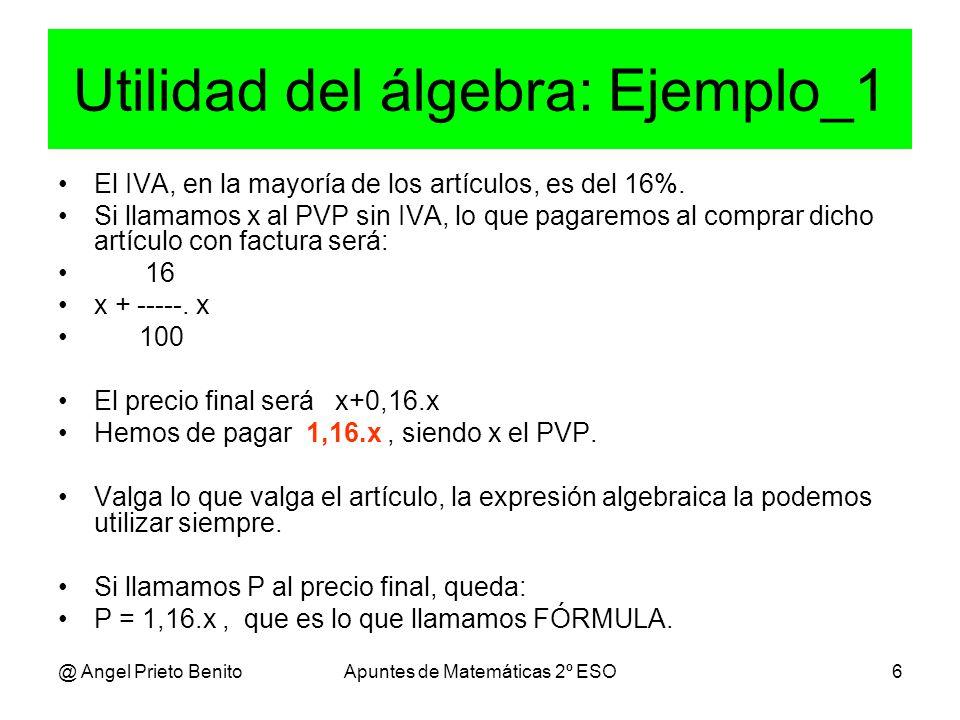 Utilidad del álgebra: Ejemplo_1