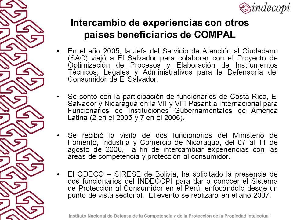 Intercambio de experiencias con otros países beneficiarios de COMPAL