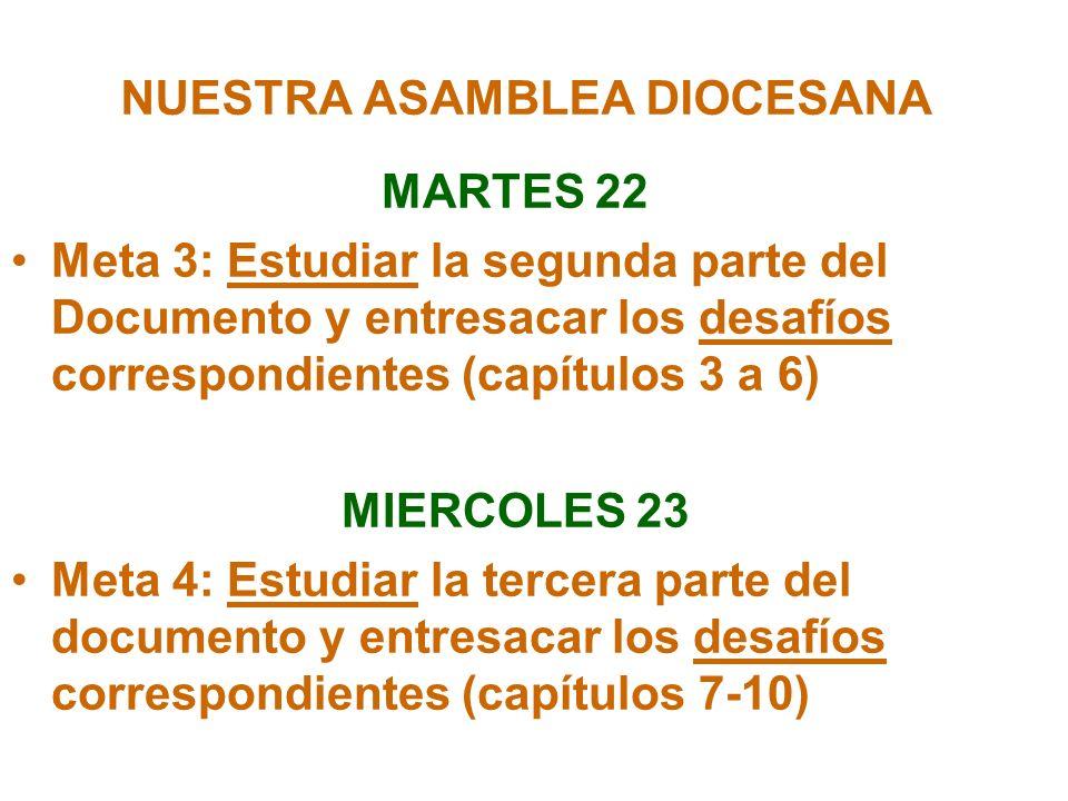 NUESTRA ASAMBLEA DIOCESANA