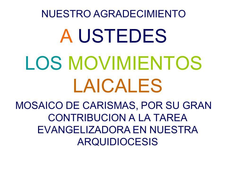 LOS MOVIMIENTOS LAICALES