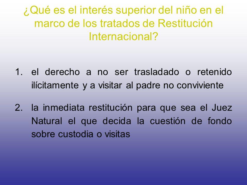¿Qué es el interés superior del niño en el marco de los tratados de Restitución Internacional