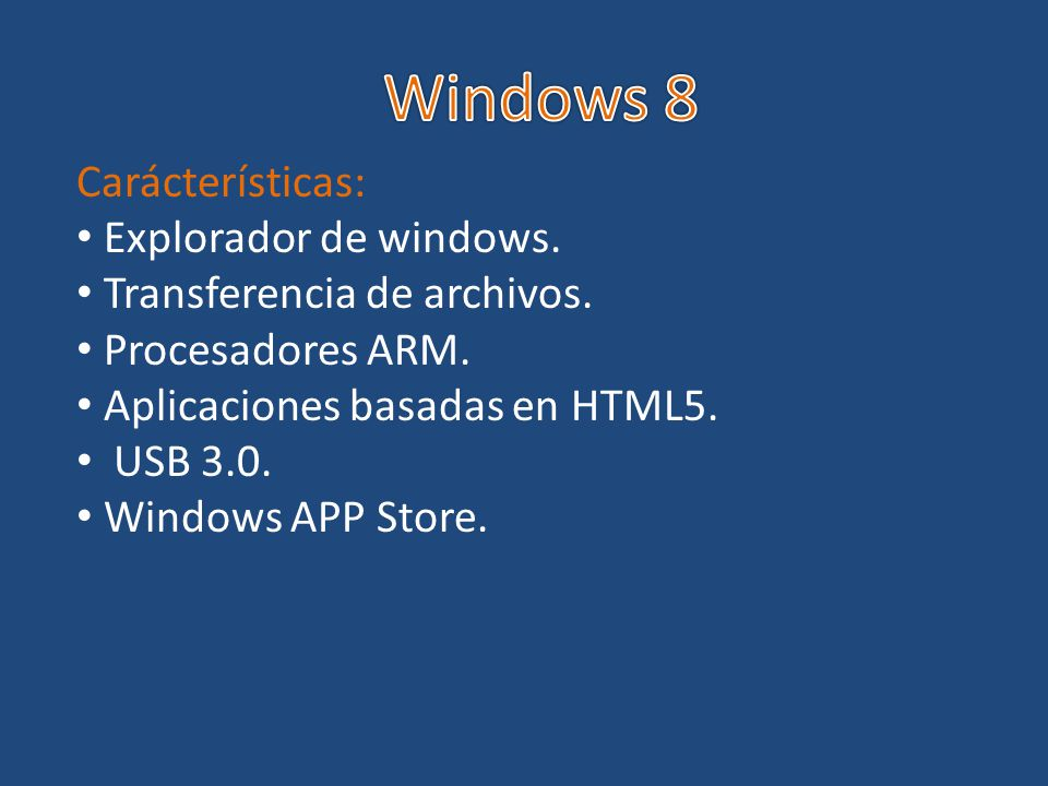 Windows 8 Carácterísticas: Explorador de windows.
