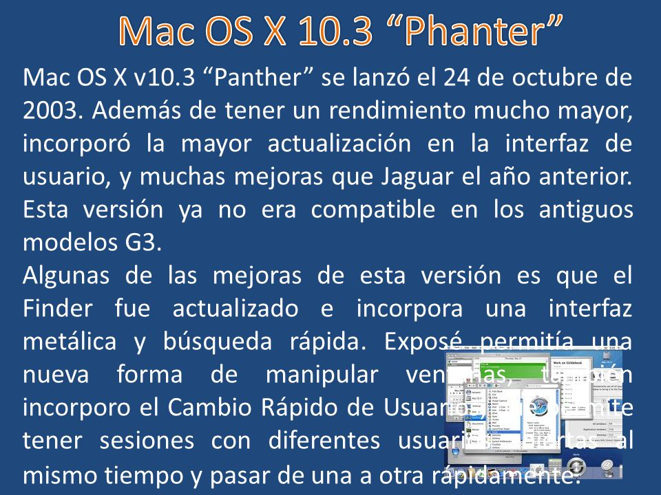 Mac OS X 10.3 Phanter