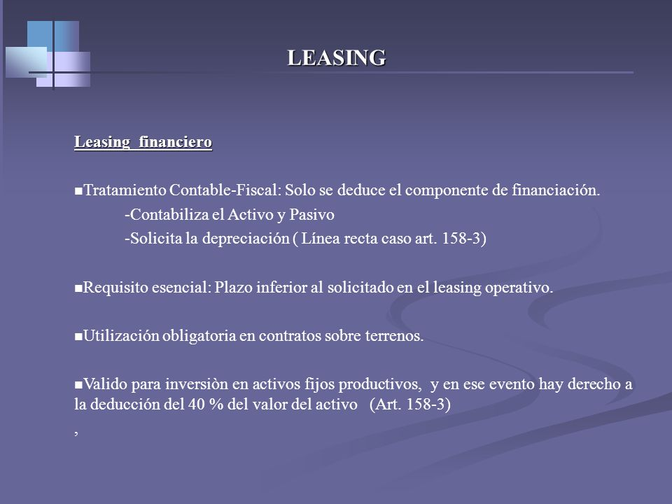 LEASING Leasing financiero
