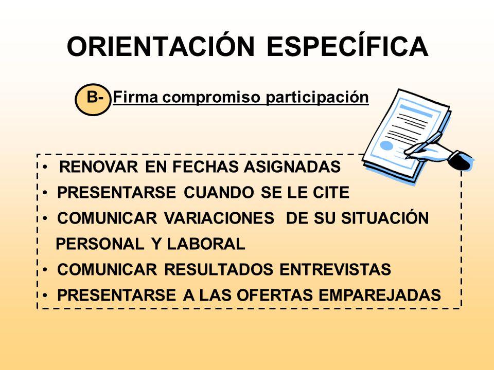 ORIENTACIÓN ESPECÍFICA