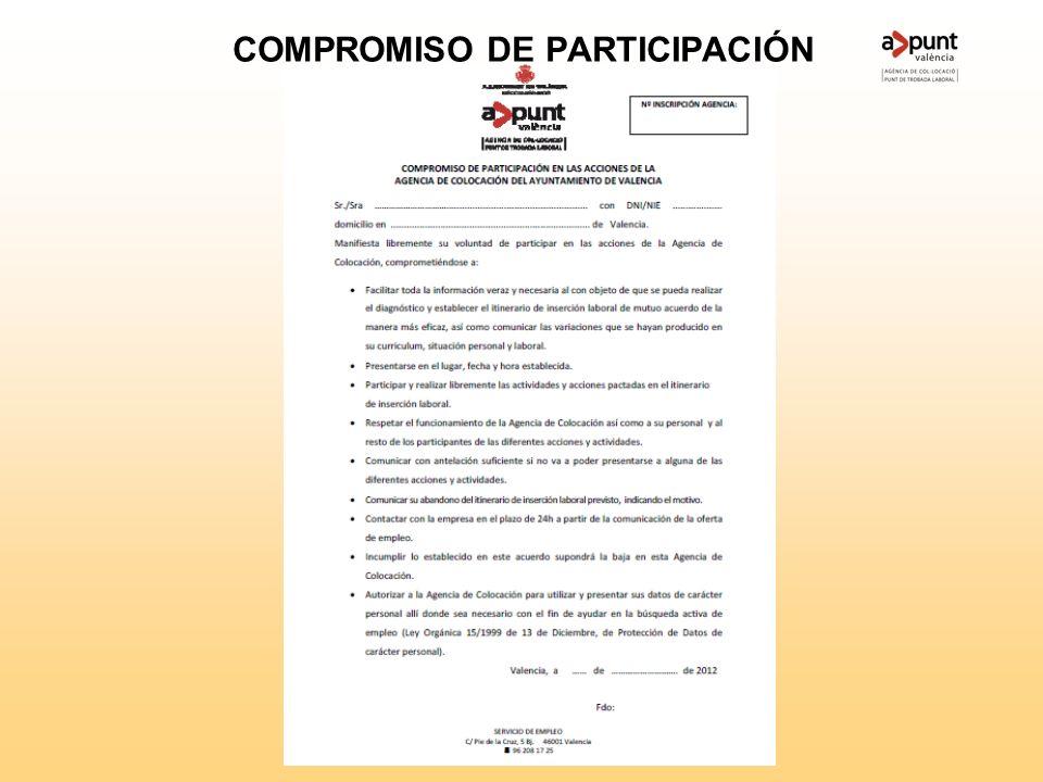 COMPROMISO DE PARTICIPACIÓN