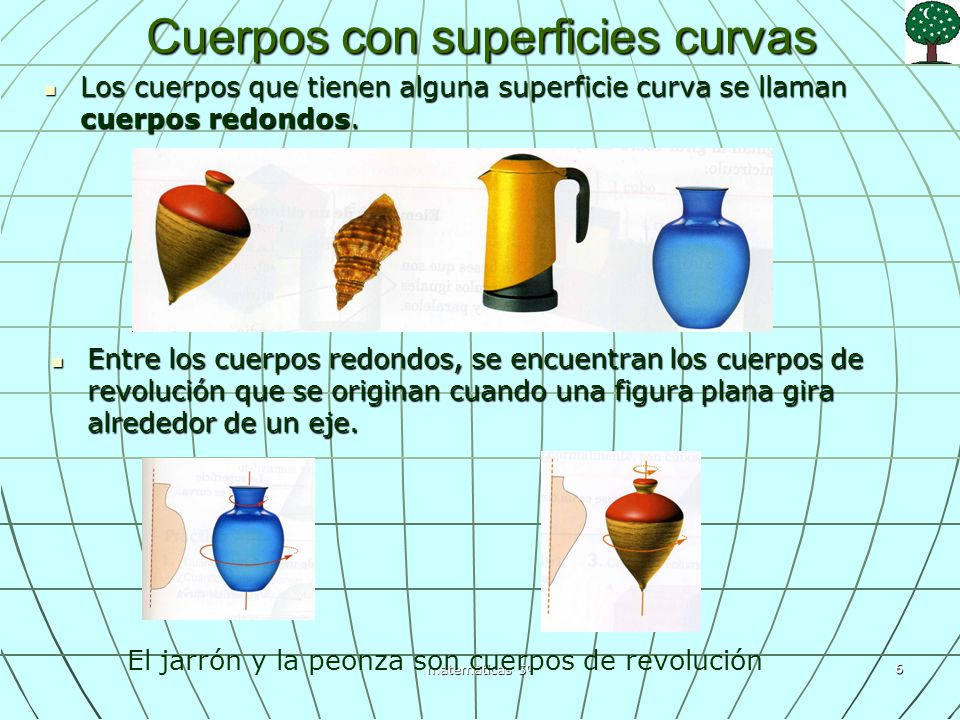Cuerpos con superficies curvas
