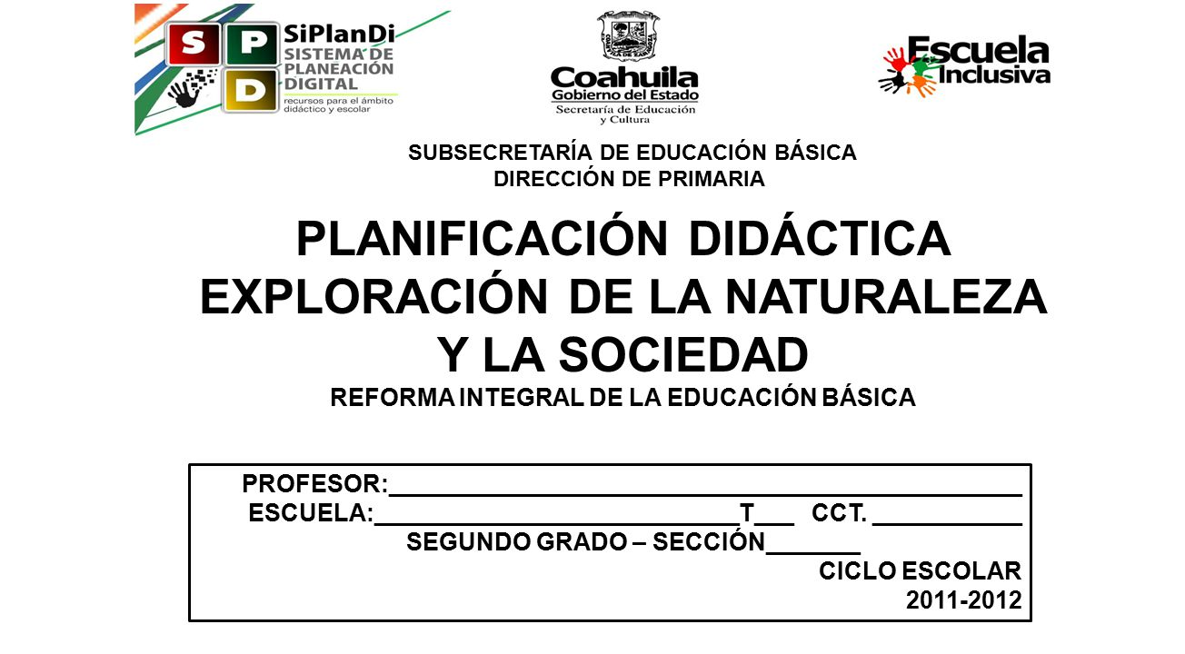 Planificaci n did ctica exploraci n de la naturaleza y la for Cct de la escuela