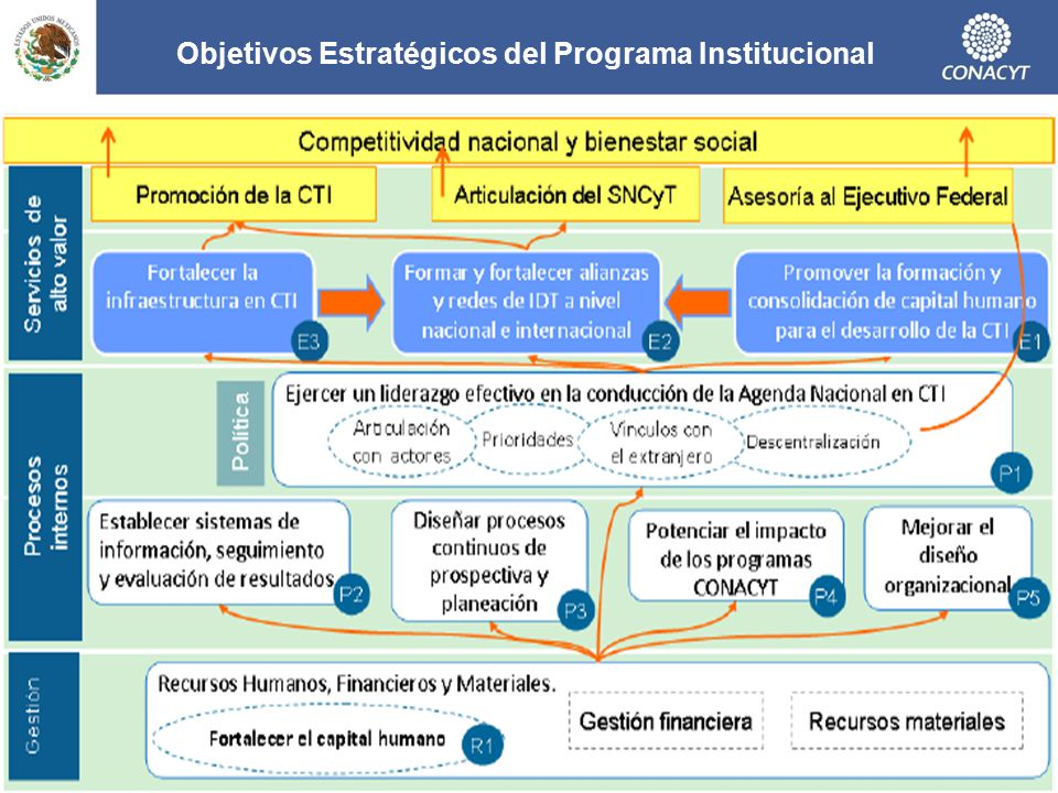 Objetivos Estratégicos del Programa Institucional