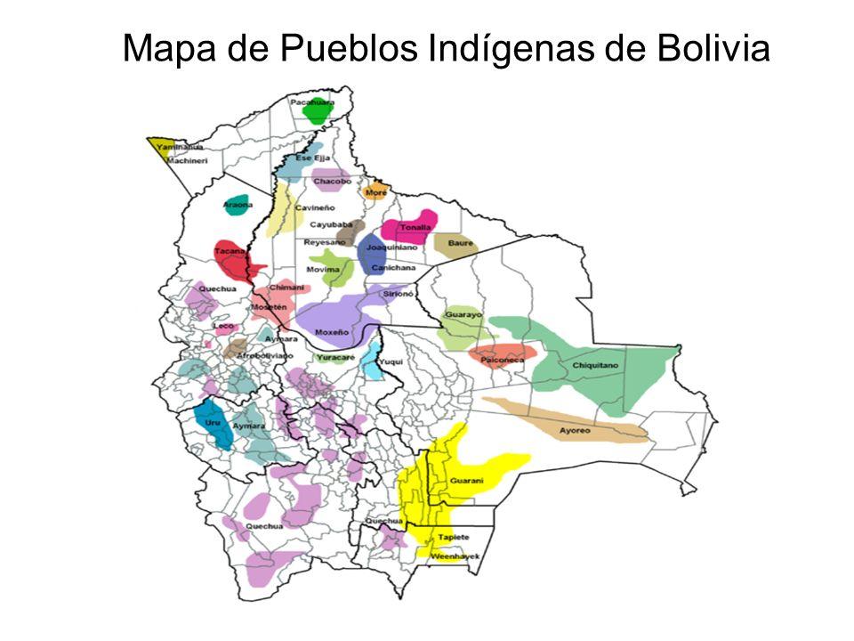 Mapa de Pueblos Indígenas de Bolivia