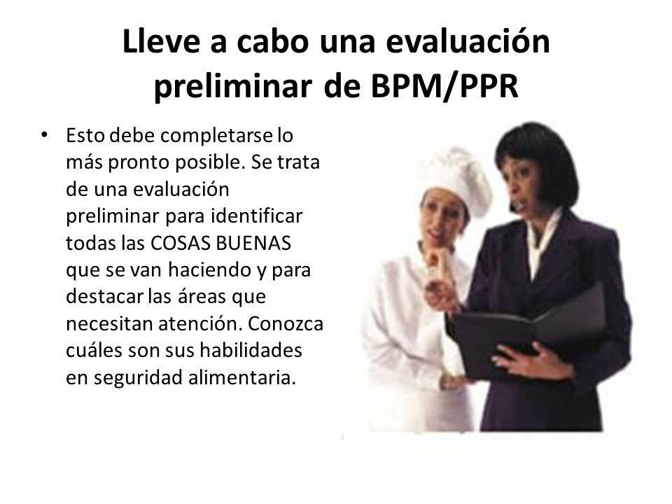 Lleve a cabo una evaluación preliminar de BPM/PPR