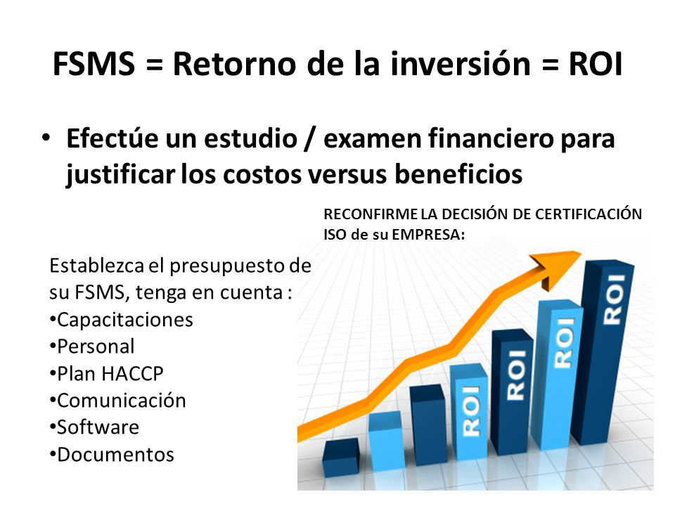 FSMS = Retorno de la inversión = ROI