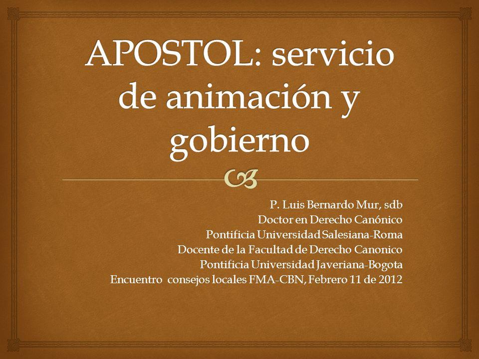 APOSTOL: servicio de animación y gobierno