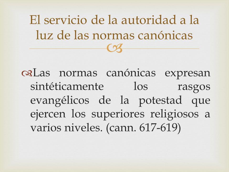 El servicio de la autoridad a la luz de las normas canónicas