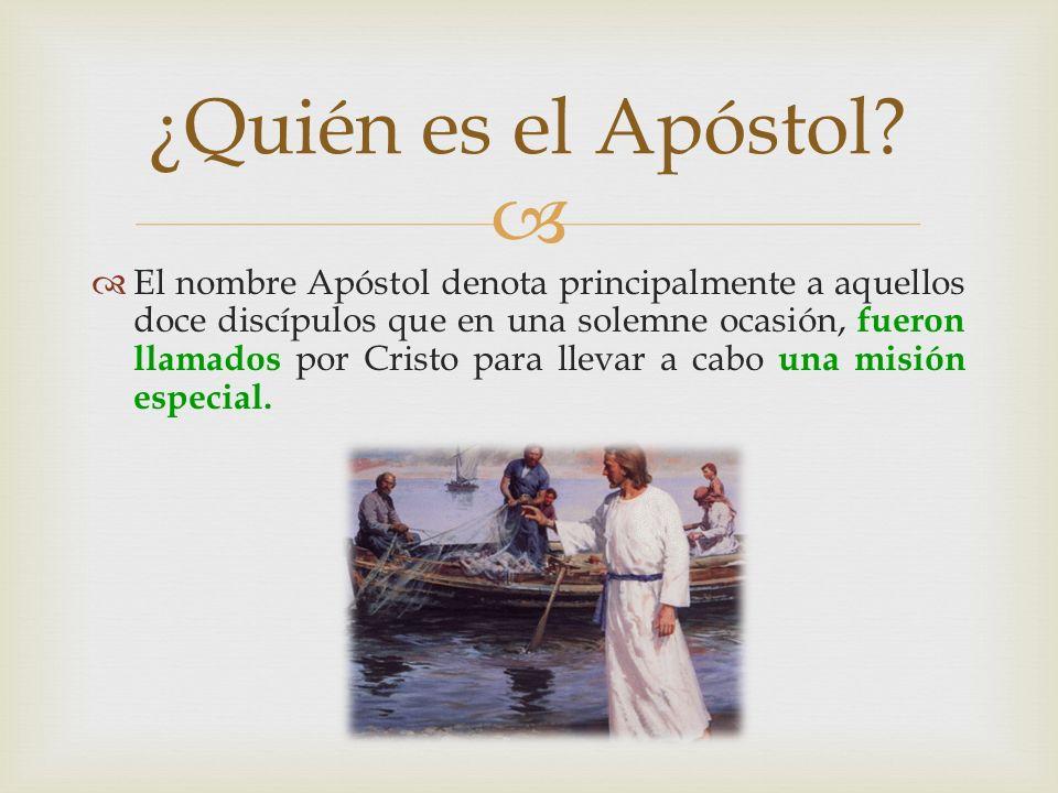 ¿Quién es el Apóstol