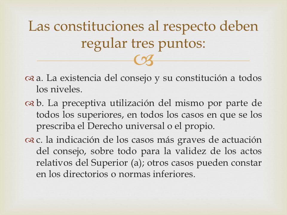 Las constituciones al respecto deben regular tres puntos: