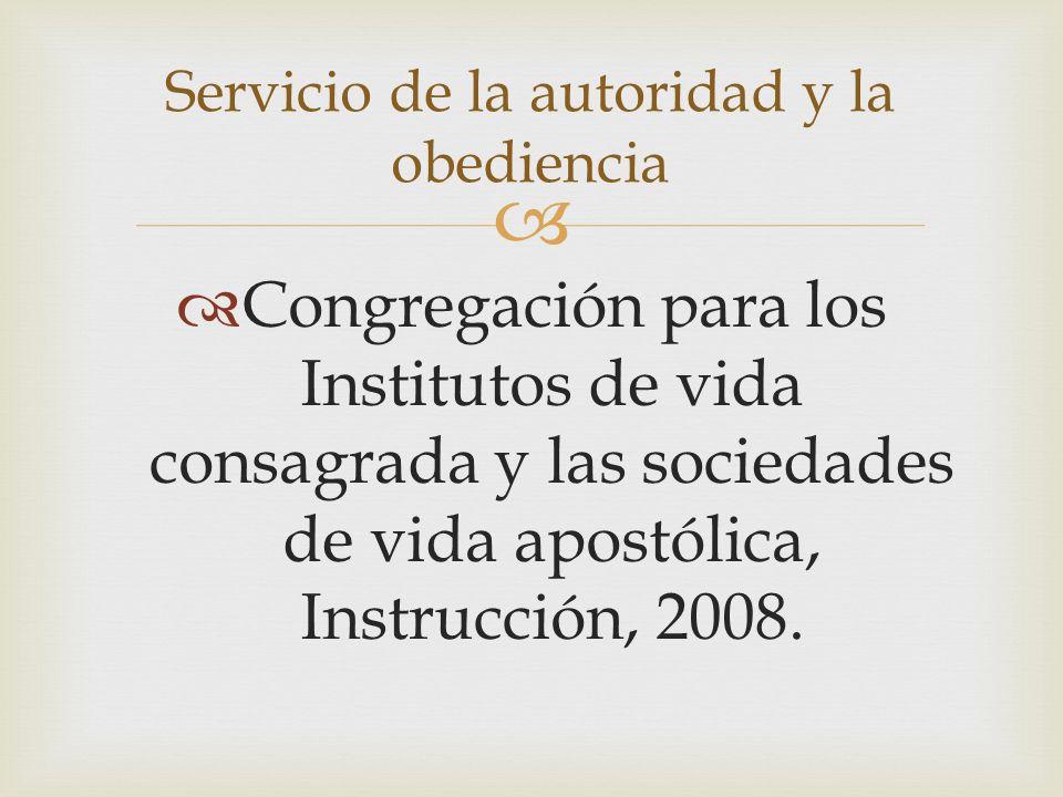 Servicio de la autoridad y la obediencia