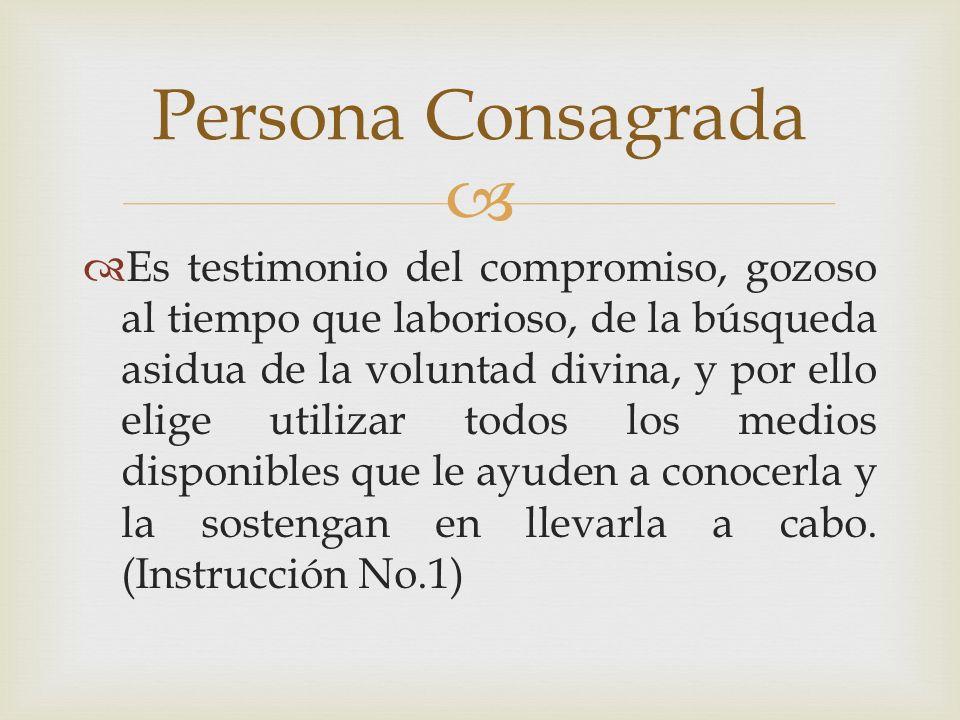 Persona Consagrada