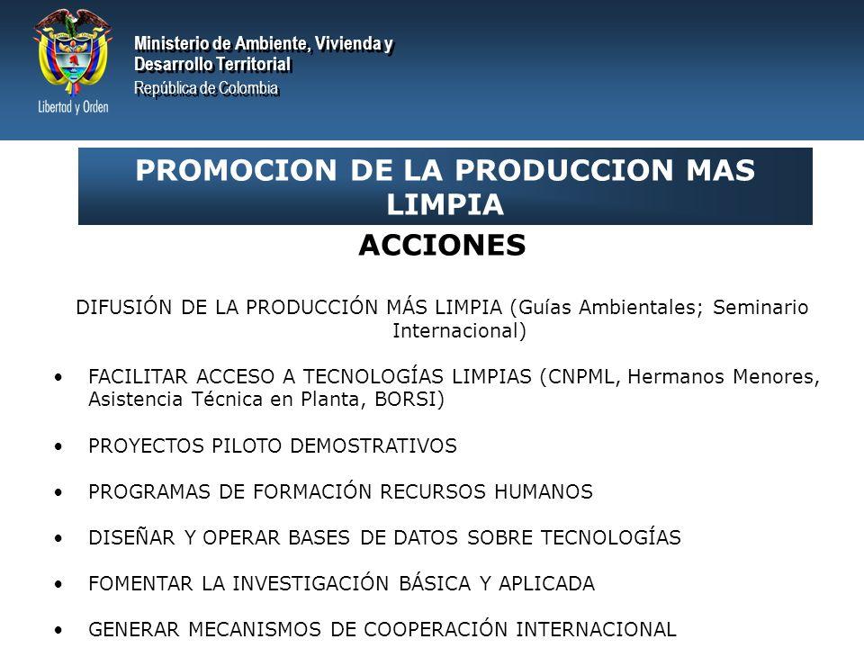 PROMOCION DE LA PRODUCCION MAS LIMPIA