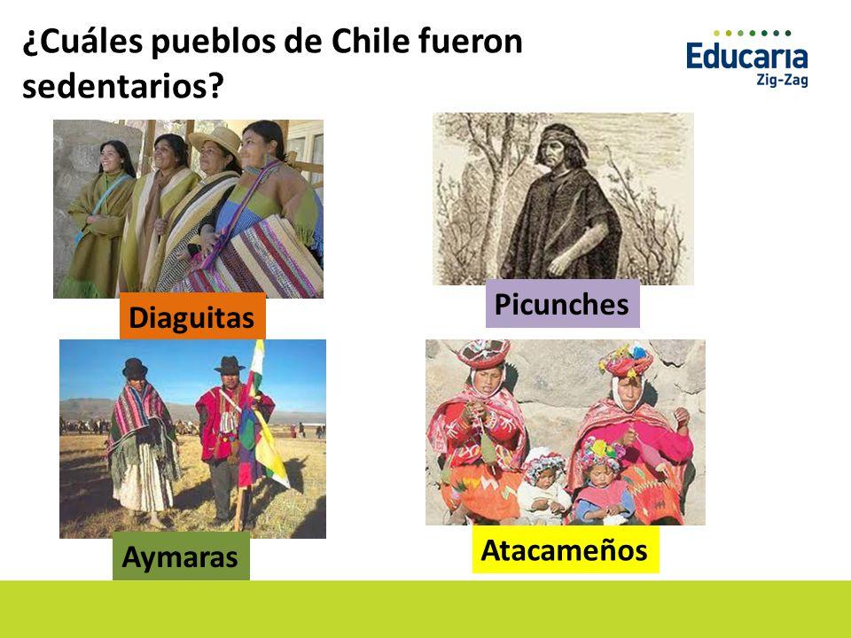 ¿Cuáles pueblos de Chile fueron sedentarios
