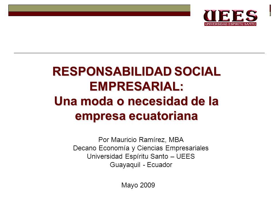 RESPONSABILIDAD SOCIAL EMPRESARIAL: